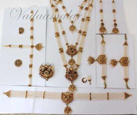 Beautiful Pearl Peacock Bridal Dance Jewelry Bharatanatyam