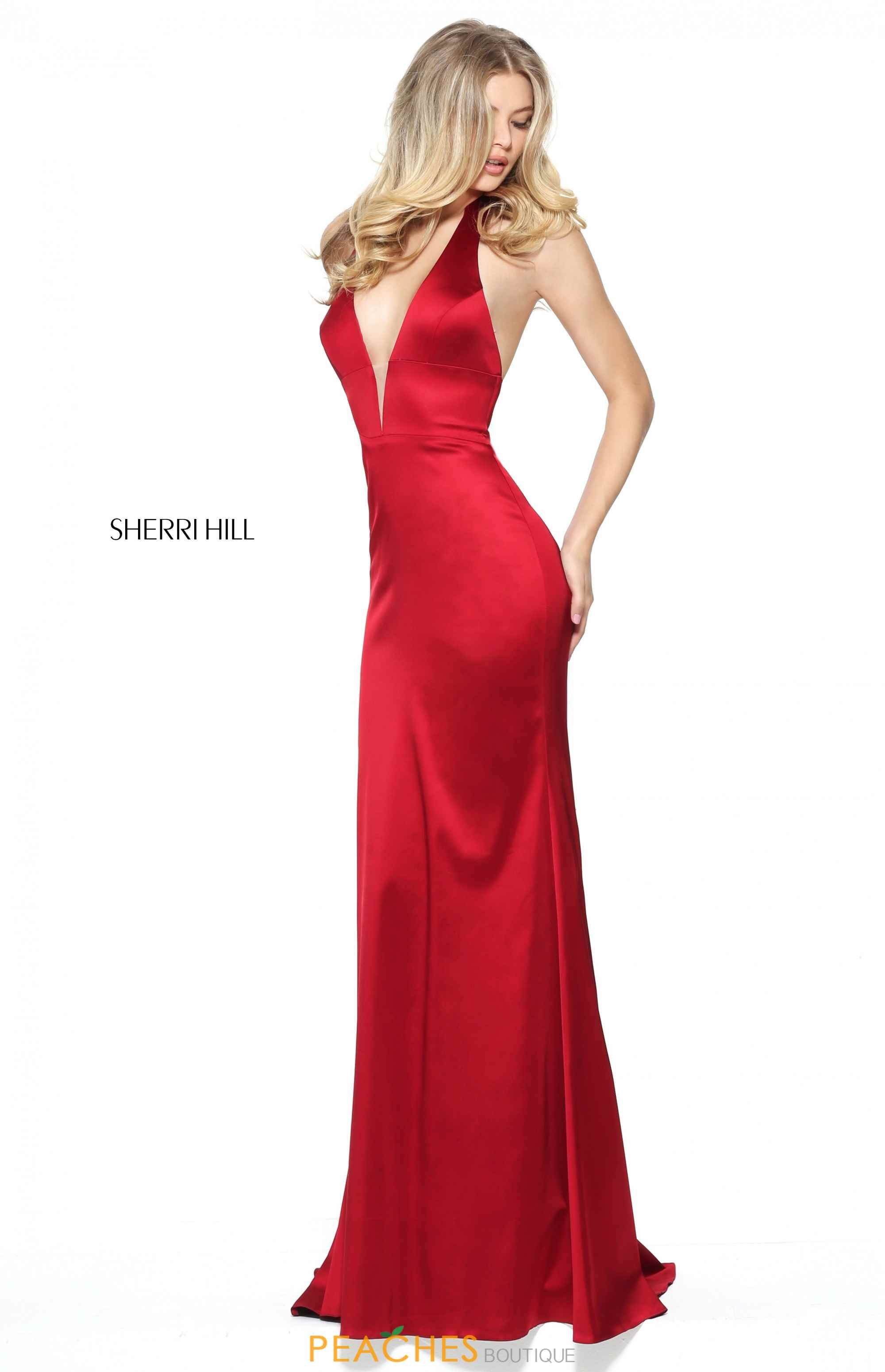 d272dd3435 Sherri Hill V- Neckline Fitted Dress 50919