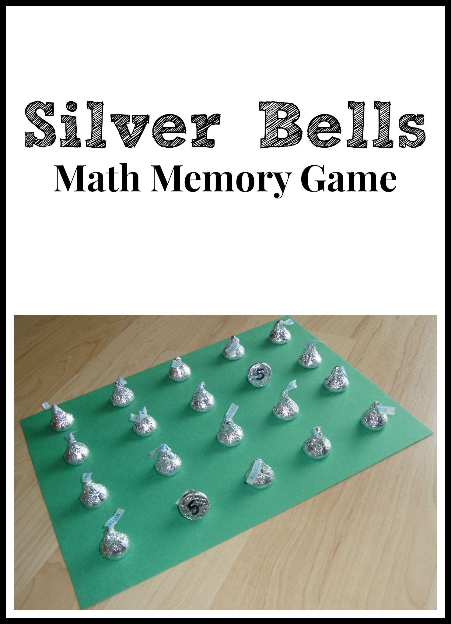 Silver Bells Math Memory Game | teaching ideas | Pinterest | Math ...