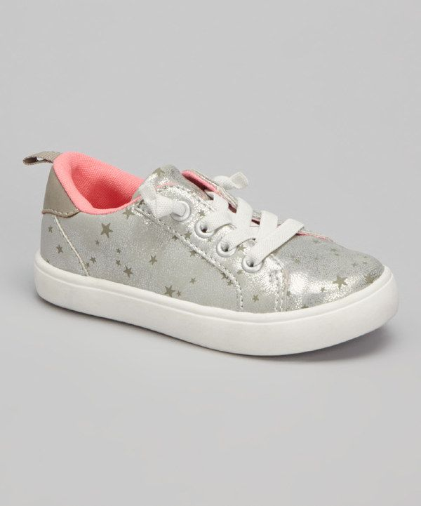 Look at this Carter's Silver Olivia Sneaker on #zulily today!