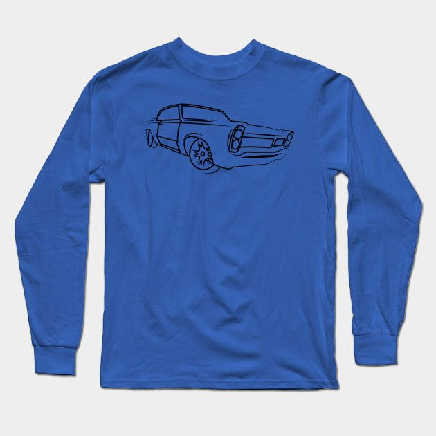 Old School Retro Classic Car Side Muscle Car Gifts For Car Lovers Long Sleeve T …