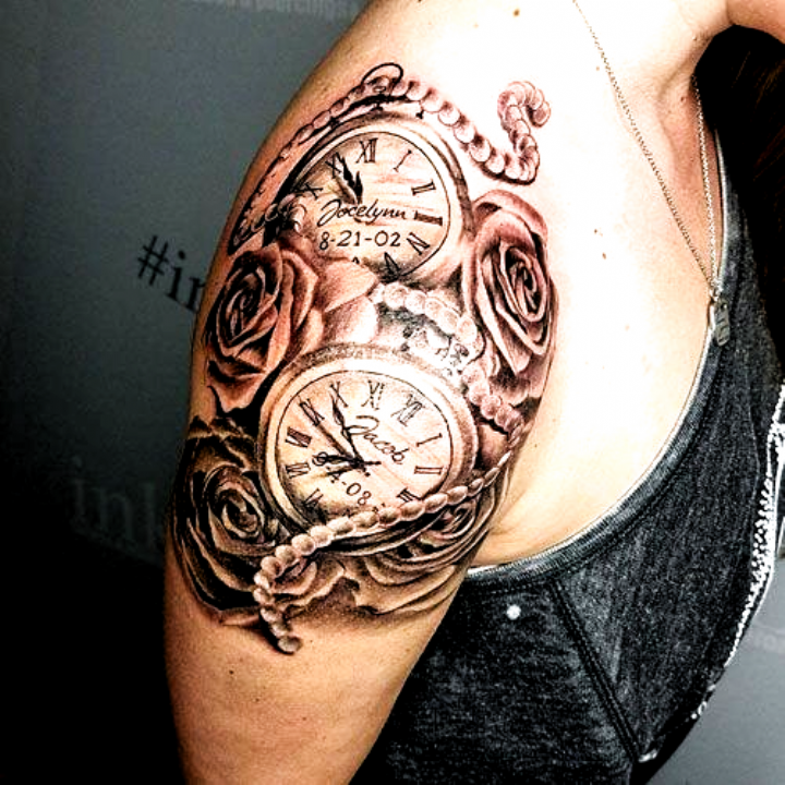Clock Tattoos For Women Best Tattoos For Women Cute Unique And Meaningful Tattoo Ideas For Girls Get In 2020 Tattoos For Women Clock Tattoo Forearm Tattoo Women