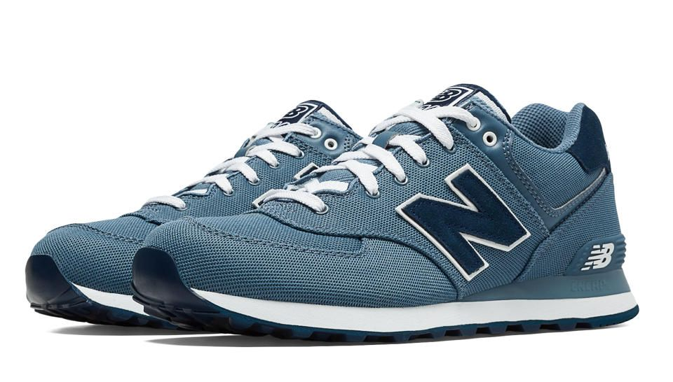 new balance 574 pique polo chambray