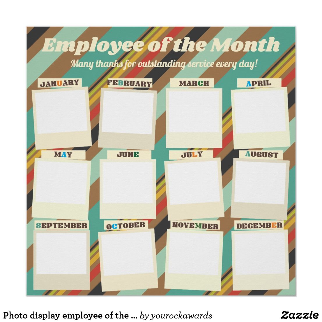 Photo Display Employee Of The Month Recognition Poster Zazzle Com Incentives For Employees Employee Recognition Board Employee Recognition Employee of the month photo
