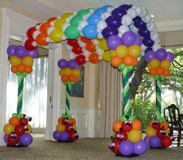 Decoración para fiestas con globos Decoraciones para fiesta, Globo