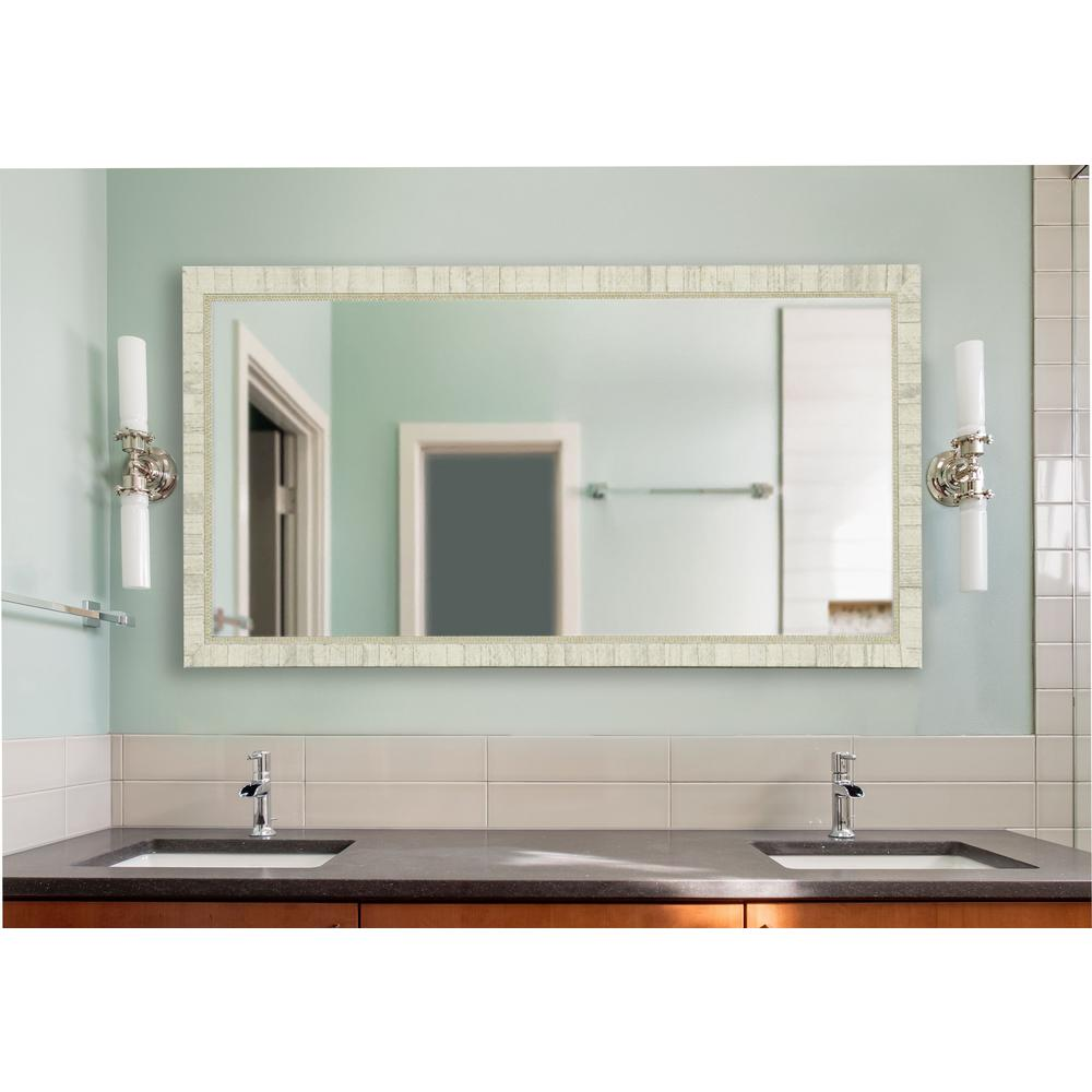 30 In W X 59 In H Framed Rectangular Bathroom Vanity Mirror In Ivory Dv047s The Home Depot Vanity Wall Mirror Vintage Bathroom Mirrors Bathroom Vanity Mirror