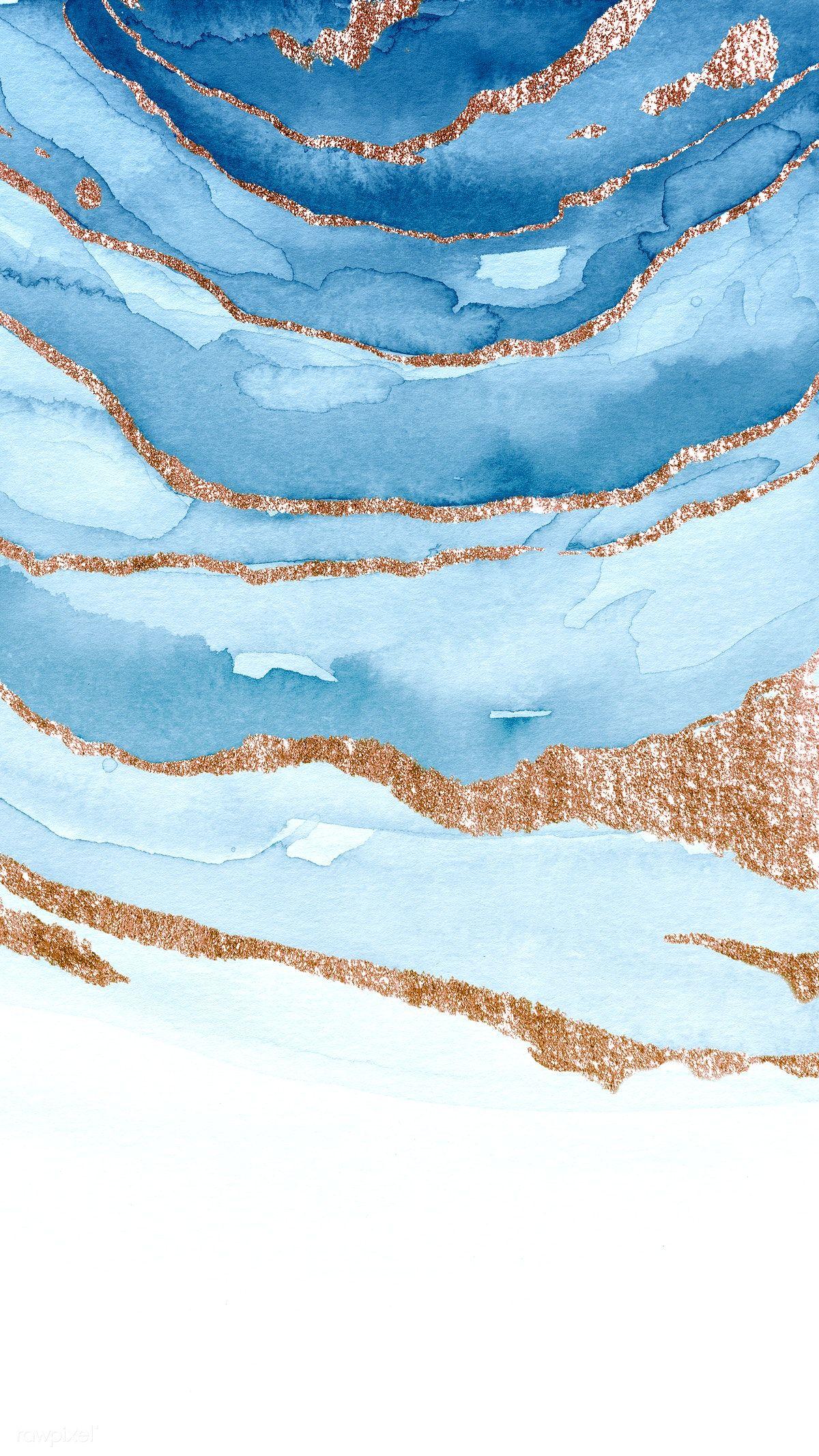 Download premium illustration of Shimmering blue p