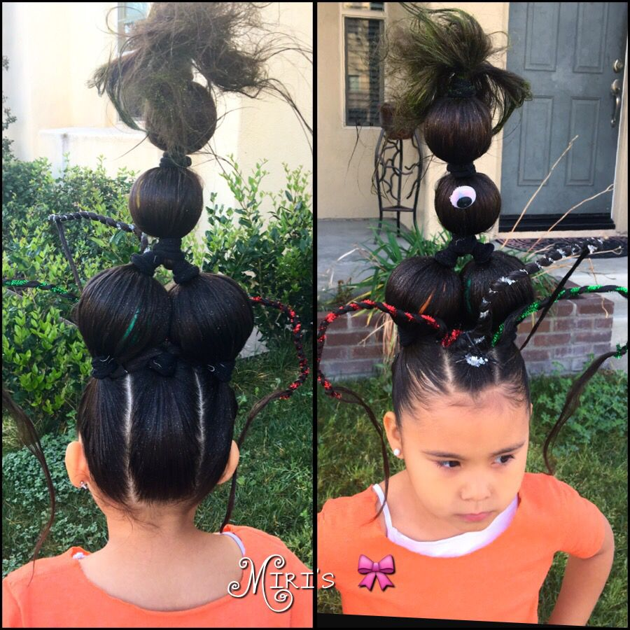 Crazy hair day for little girls   Crazy hair, Holiday hairstyles ...