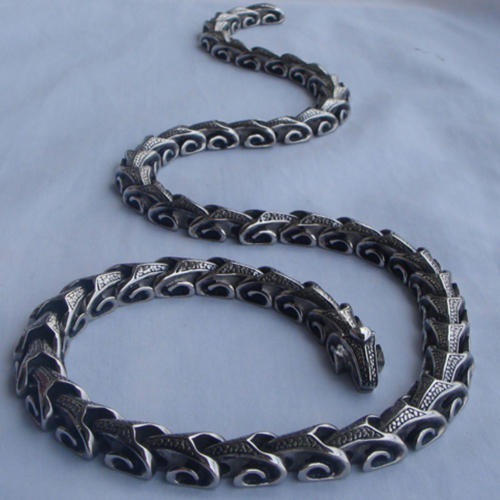 Uu vary length dragon link menboy jewelry punk l stainless