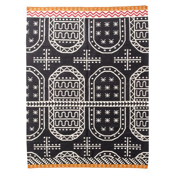 ₪ 2,417.77 | 100% wool Kilim Carpet geometric Bohemia ...