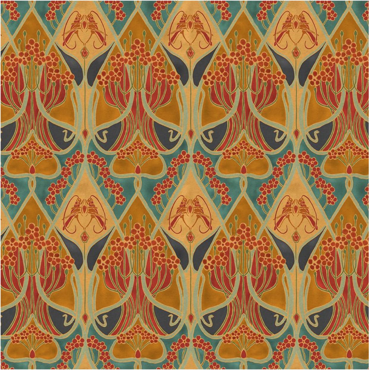 Vintageinspired wall covering from Astek Art nouveau