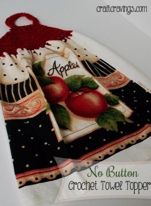 No Button Crochet Towel Topper (Pattern | Pinterest | Para navidad ...