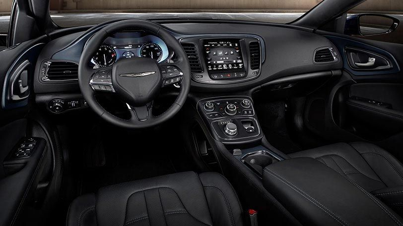 The All New 2015 Chrysler 200s Cockpit Features A Standard Leather