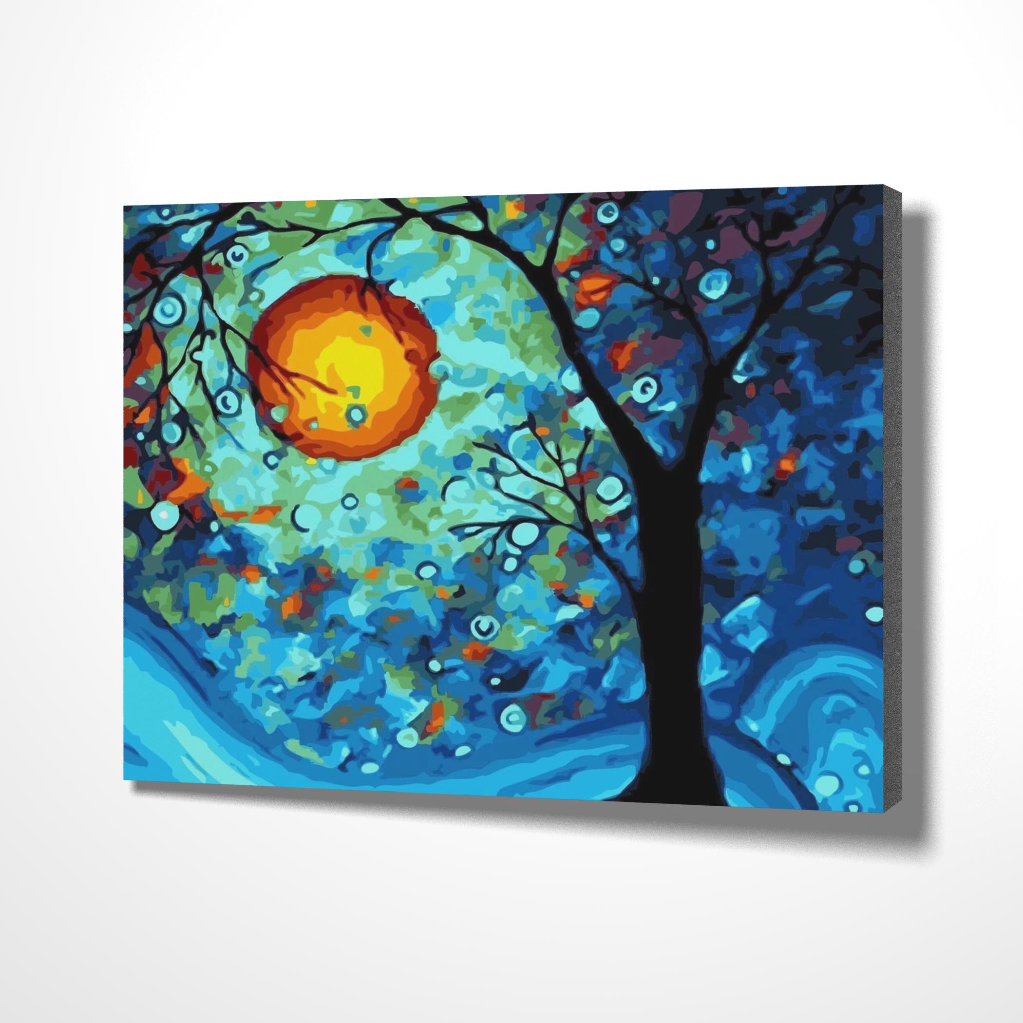 Diy Painting Kit Paint By Numbers Dream Tree #Diy #Custom #