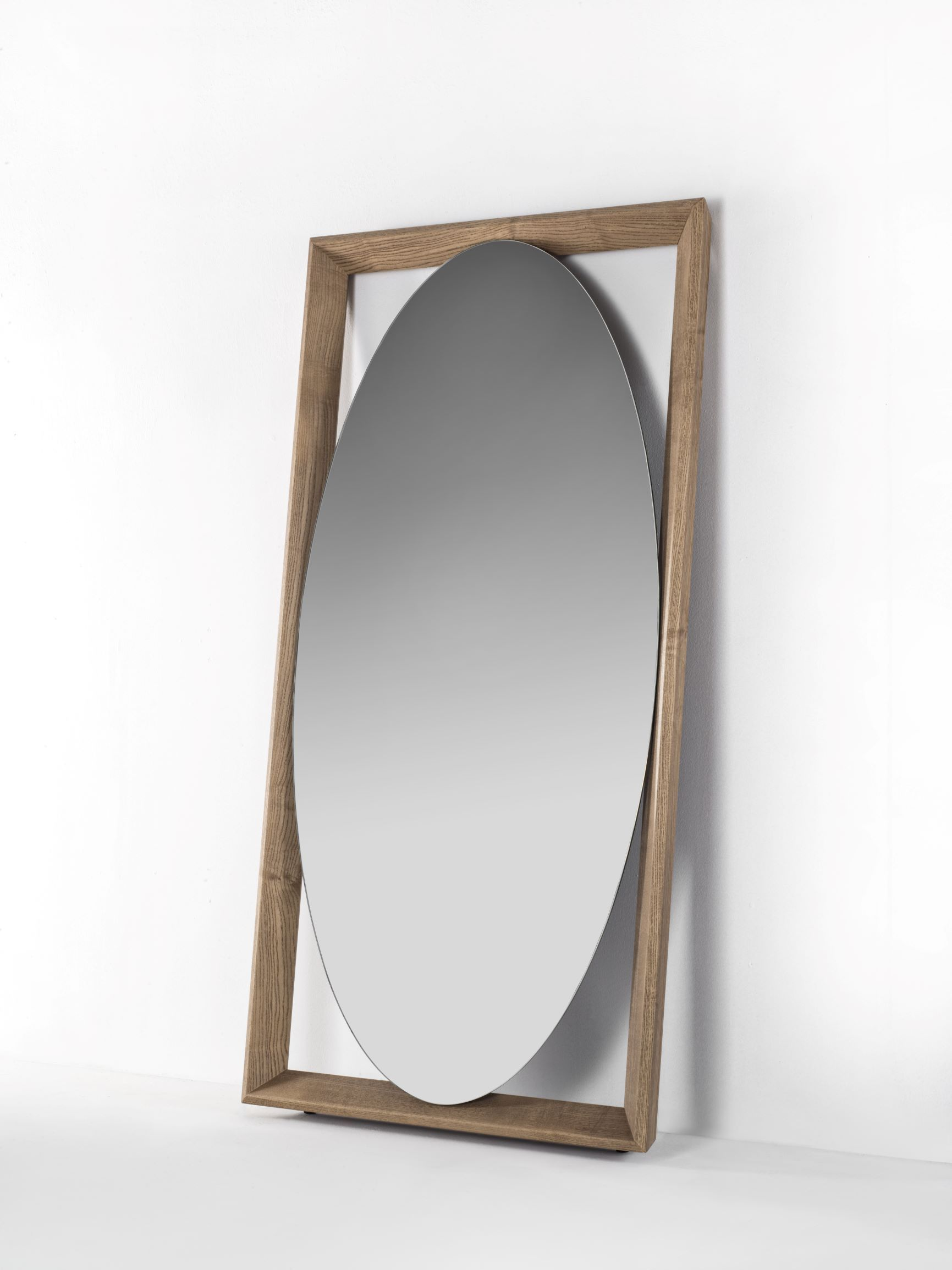 Odino Mirror By Porada Standing Full Length Mirror In Solid Ash