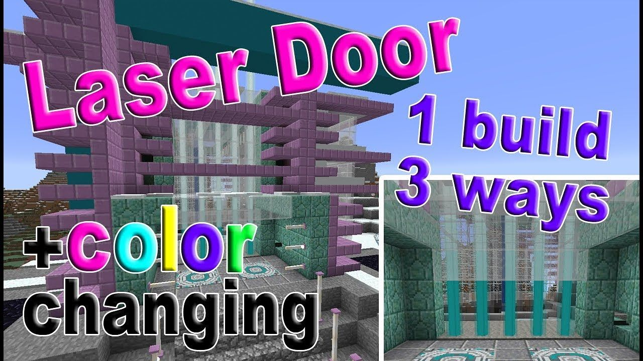 Minecraft How To Build A Laser Door With Color Change All Versions