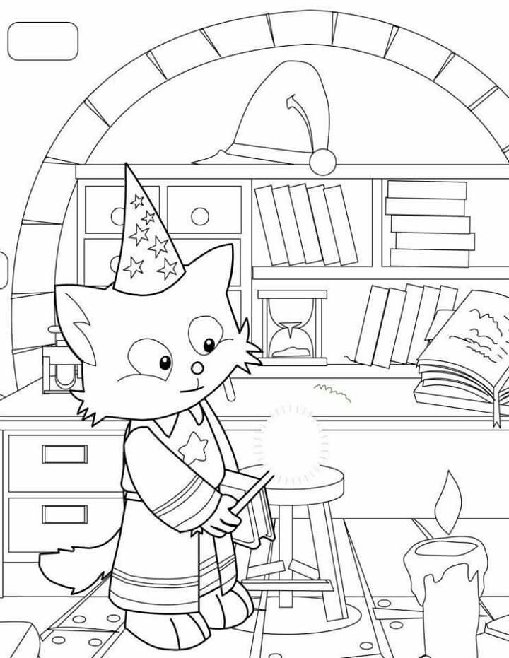 Cat wizard coloring page | Coloring pages | Pinterest | Coloring books