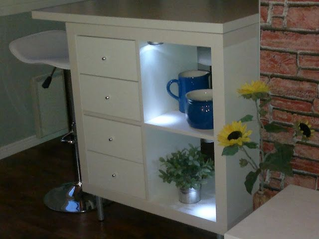 The tiny kitchen island This one would also work by making the
