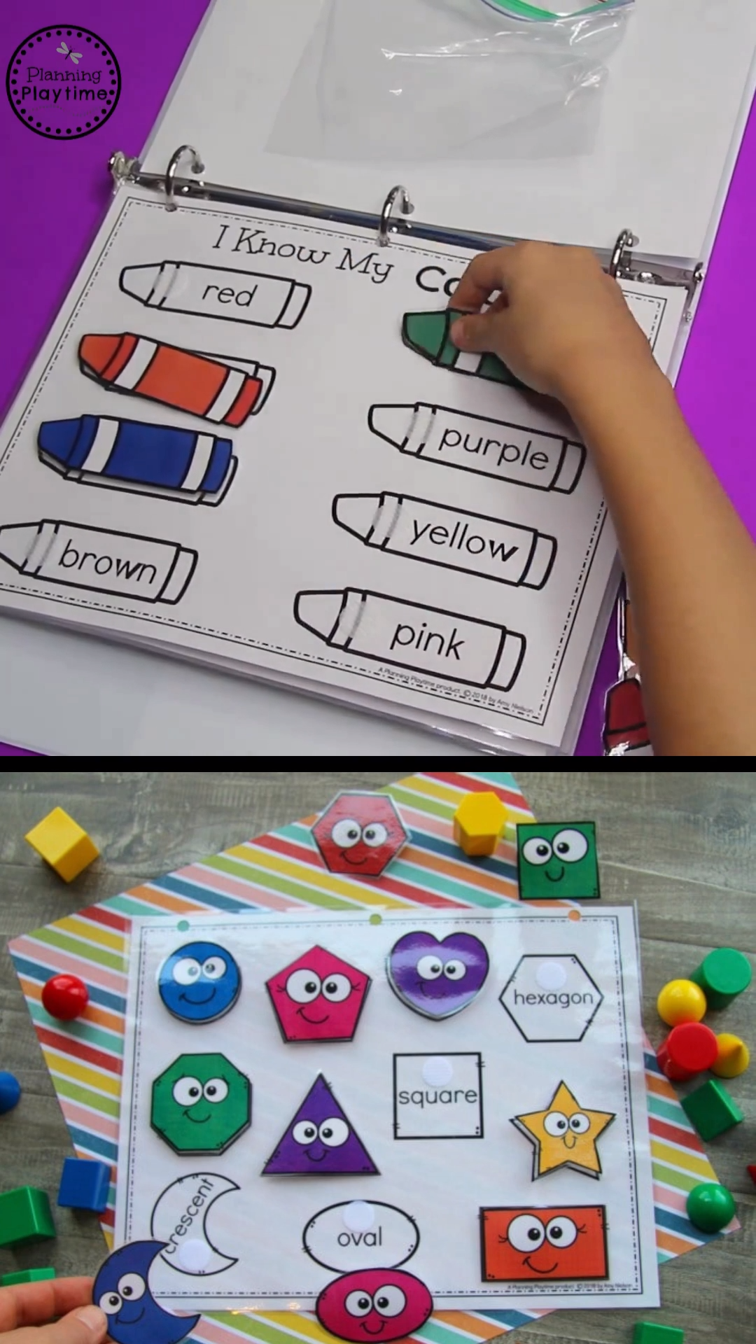 Back to School Activity Binder (Preschool)- fun busy bag ideas for toddlers and preschoolers! Download the PDFs to make a interactive
