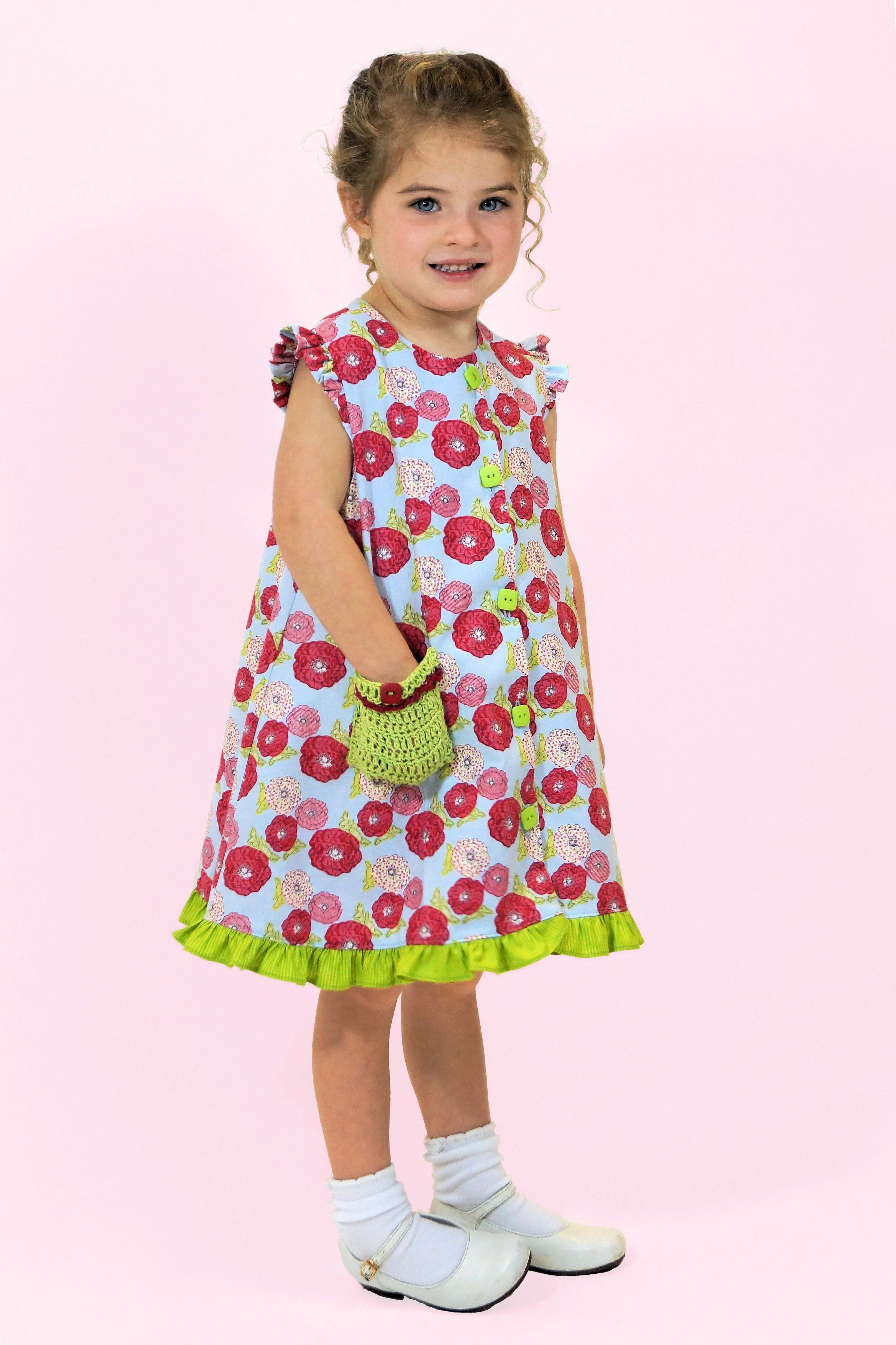 Children\'s Corner pattern Charlotte with contrasting ruffle and ...