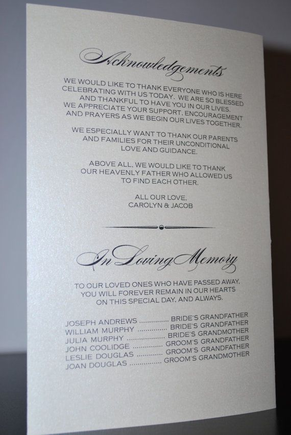 Pin By Alison Nordstrom On Wedding Thoughts Printable Wedding Programs Elegant Wedding Programs Wedding Programs