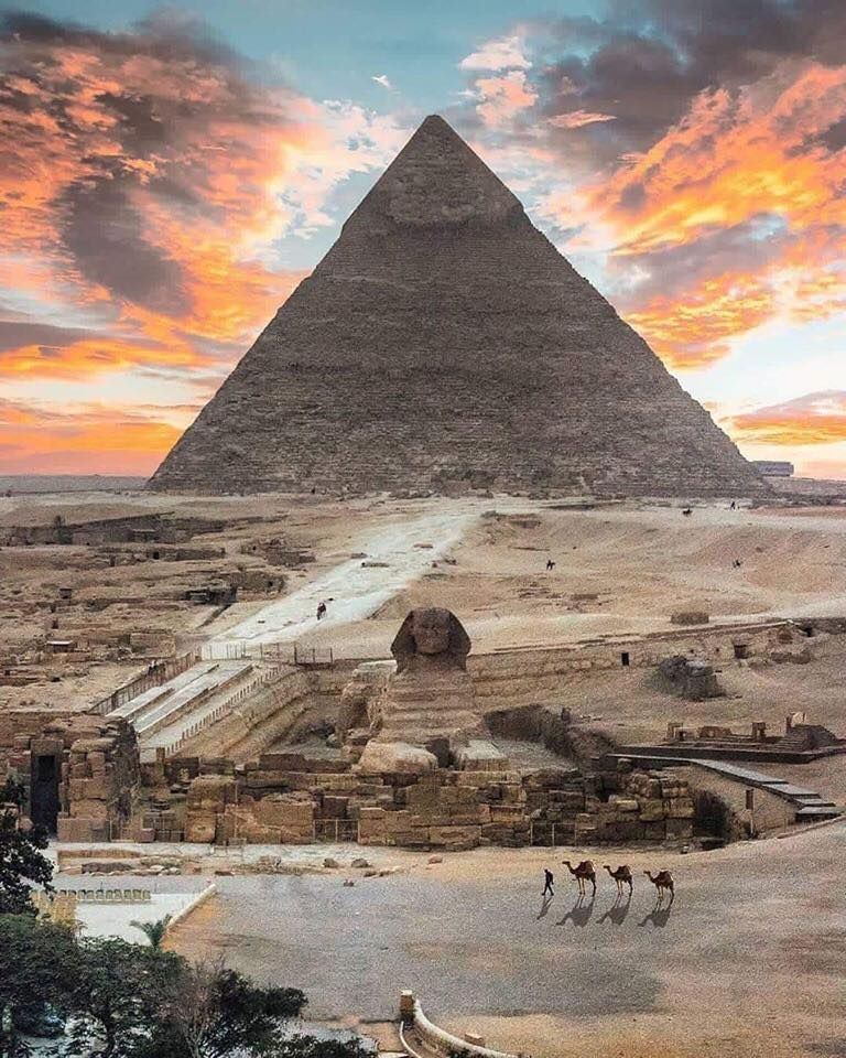 Sunrise Over The Pyramids Of Egypt Photo By Karim Amr Ancient Egypt Architecture Pyramids Egypt Ancient Egypt History