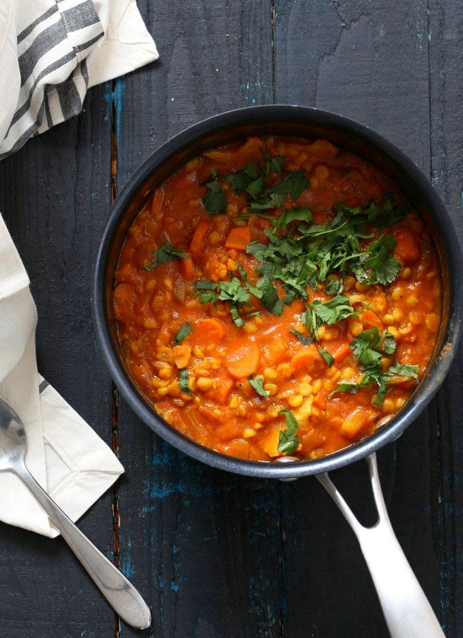 Chana Dal Veggie Soup
