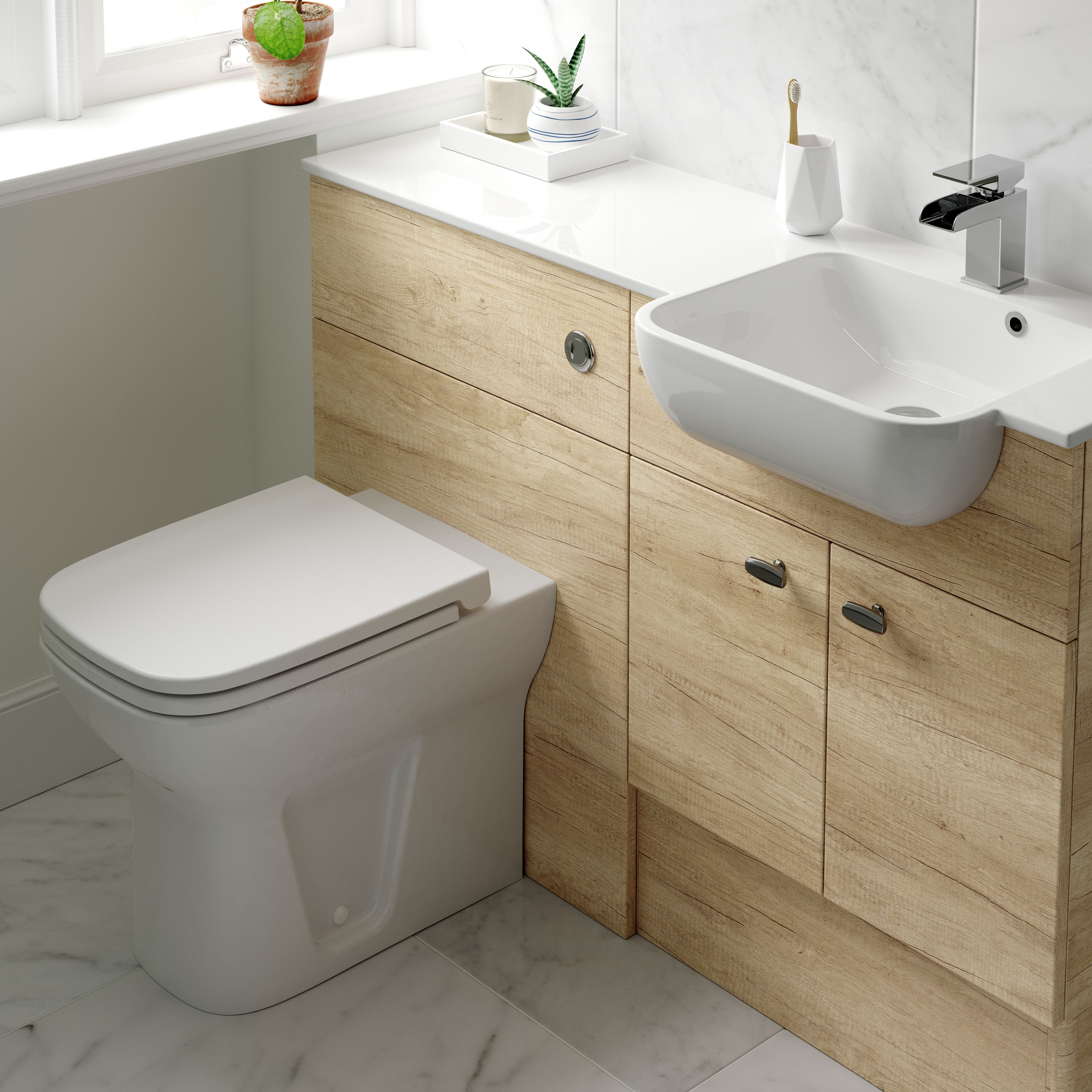 Arco Semi Recess Basin With Left Hand