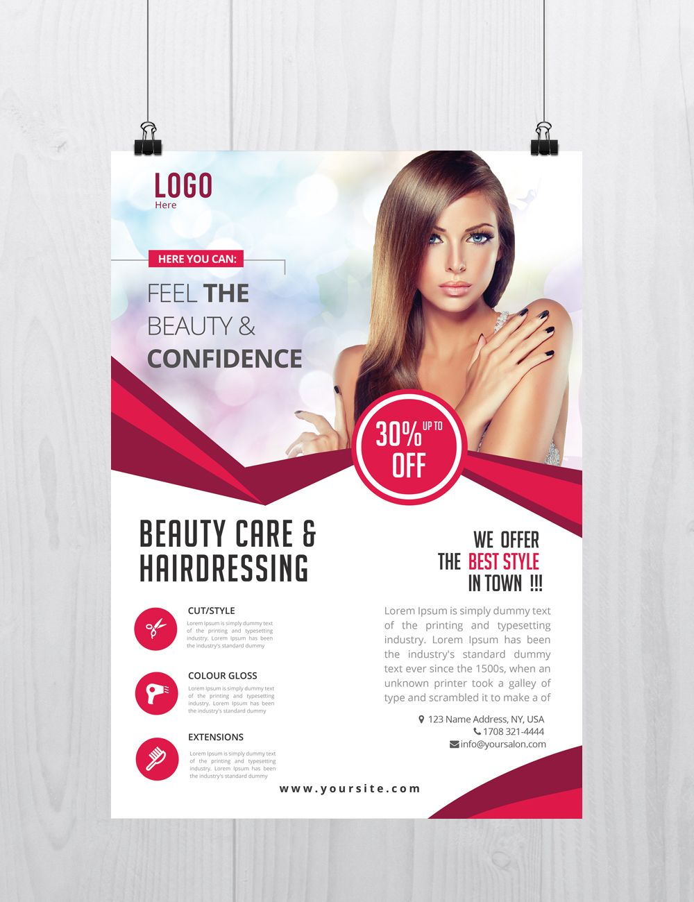 download beauty care psd flyer template for free. designed