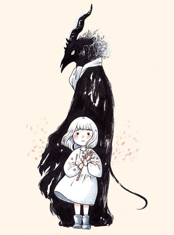 Image Result For The Girl From The Other Side Dark Art Illustrations Horror Art Aesthetic Anime