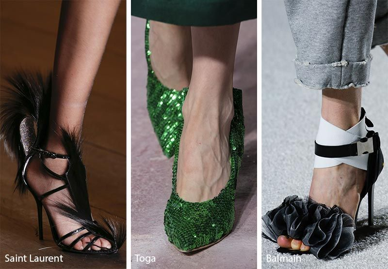 99307ab0dee00 Fall/ Winter 2018-2019 Shoe Trends: Festive Shoes & Boots with Sequins,  Feathers, Fringe and Tinsel