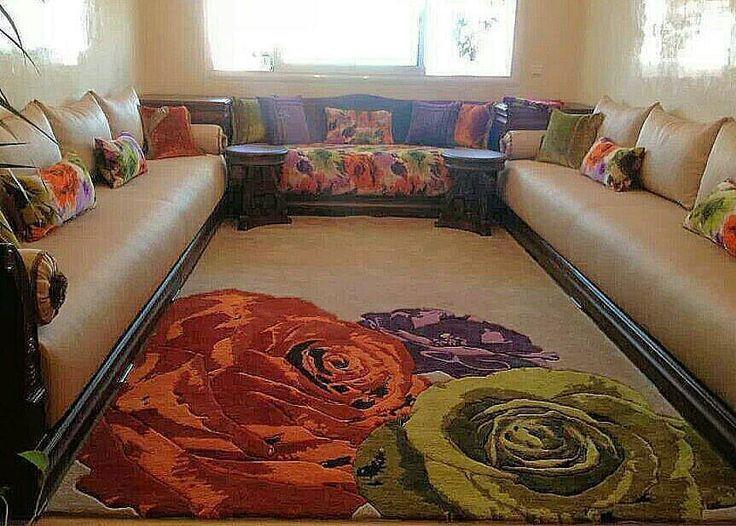 Un superbe tapis un superbe tissus ds les m mes motifs et - Tapis pour salon marocain ...