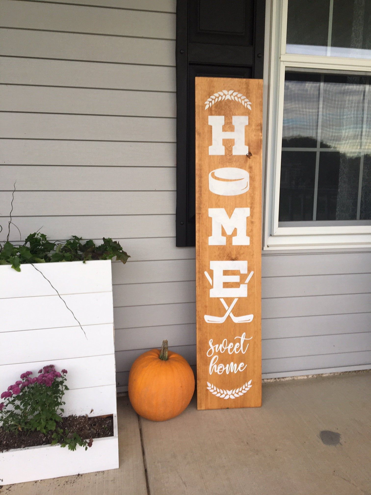 Welcome Sign Hockey Welcome Sign Welcome Porch Sign Front Door Hockey Welcome Sign Denneystudio Porch Welcome Sign Porch Signs Welcome Signs Front Door