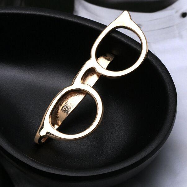 2016 uomini Moda Maschile Francese hollow occhiali da sole borsa Camicia Tie Clip In Argento Dorato Mens Dell'annata clip di legame Per La Camicia