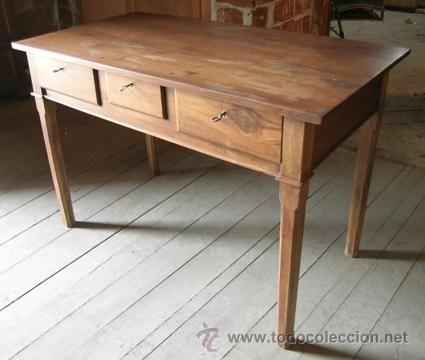 Escritorio madera nogal. 3 cajones | Pinterest | Escritorio madera ...