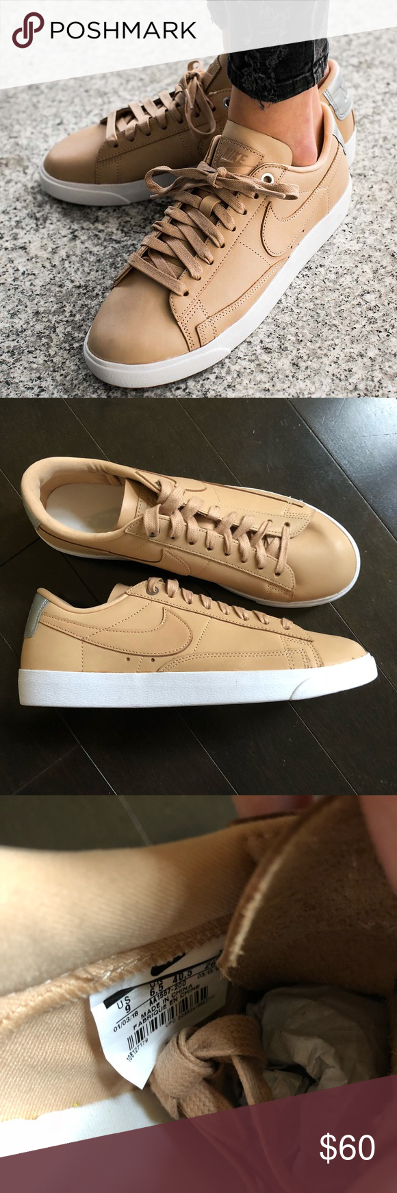 Nike blazer premium low QS bio beige New without box. These were never worn d4bd51080