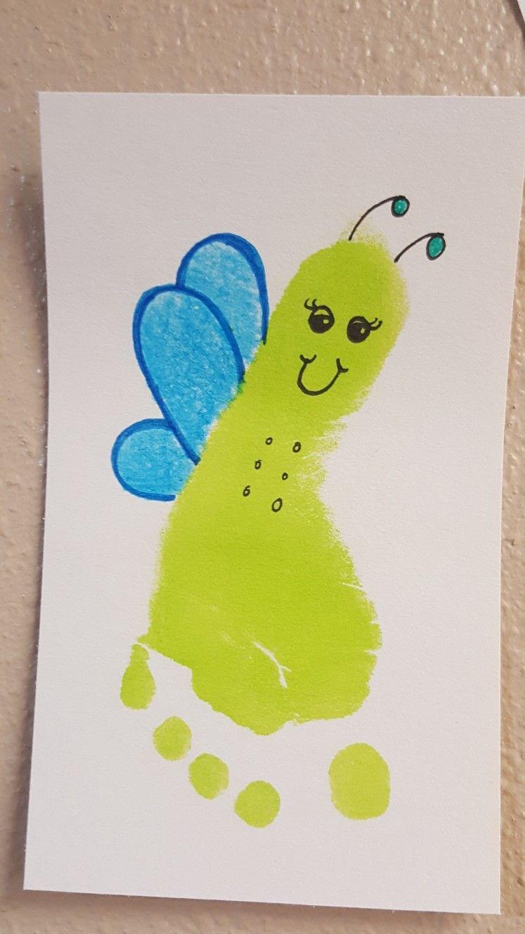 Firefly Footprint Toddler Art Projects Fireflies Craft