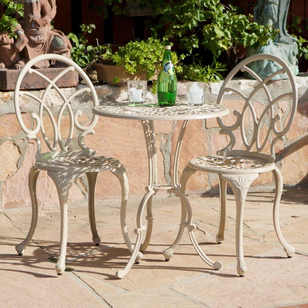 High Quality Anacapa Aluminum Off White Bistro Set. Outdoor Patio Furniture Elegant ... Ideas