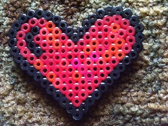 Perler Bead Heart