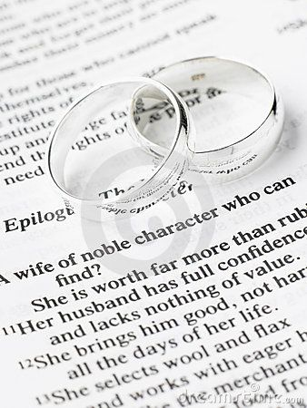 Wedding Ring with bible Pictures Wedding Rings Resting On A
