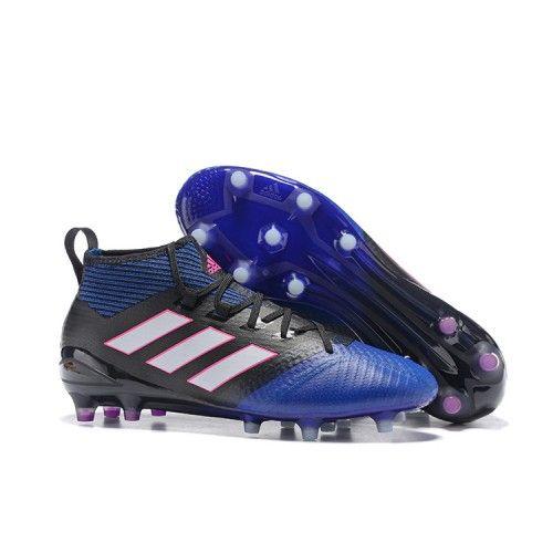 Adidas ACE 17.1 FG Mens Football Shoes Blue Black White Purple