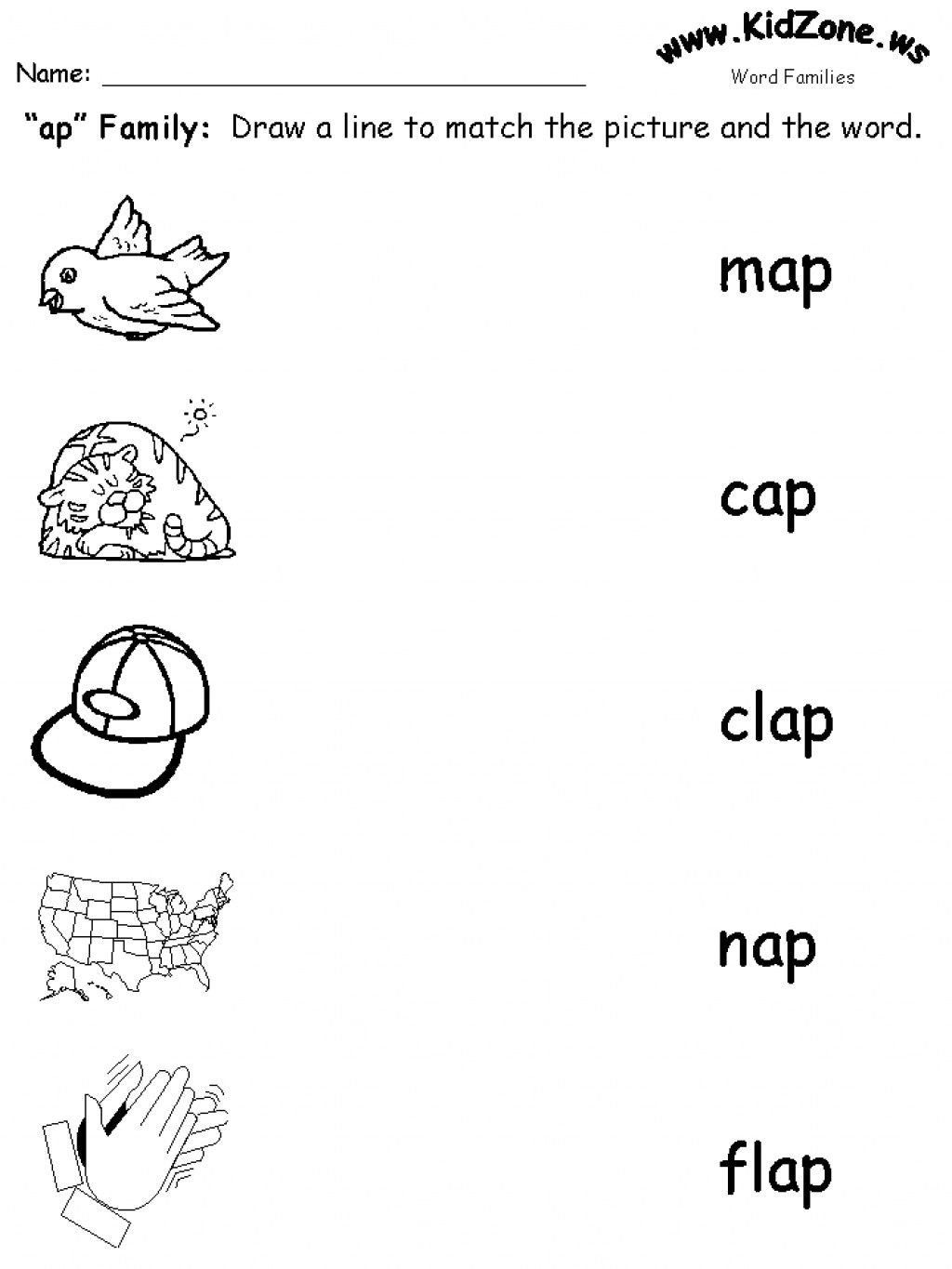 Word Families Kindergarten Worksheets Teaching Word Families In 2021 Word Family Worksheets Kindergarten Word Families Family Worksheet