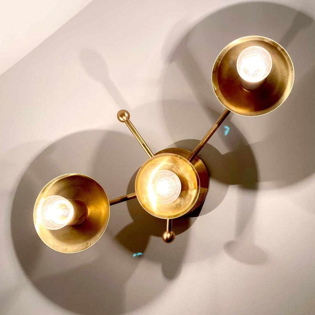 Trek Flat Modern Minimal Brass Flush Mount Wall Sconce Etsy Ceiling Fixtures Modern Minimal Wall Sconces