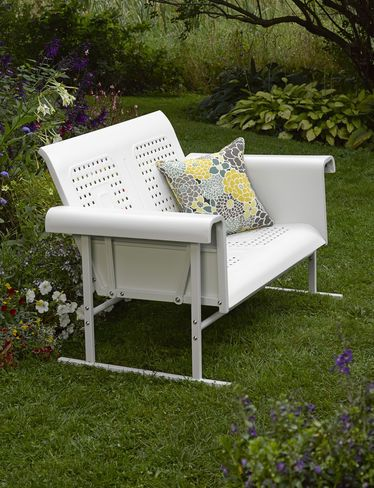 Crosley Veranda Loveseat Glider Gardener S Supply Vintage Porch Vintage Patio Furniture Vintage Outdoor Furniture