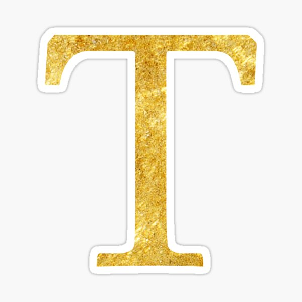 Letter T Gold Stickers Gold Stickers Black And Gold Marble Initials Sticker