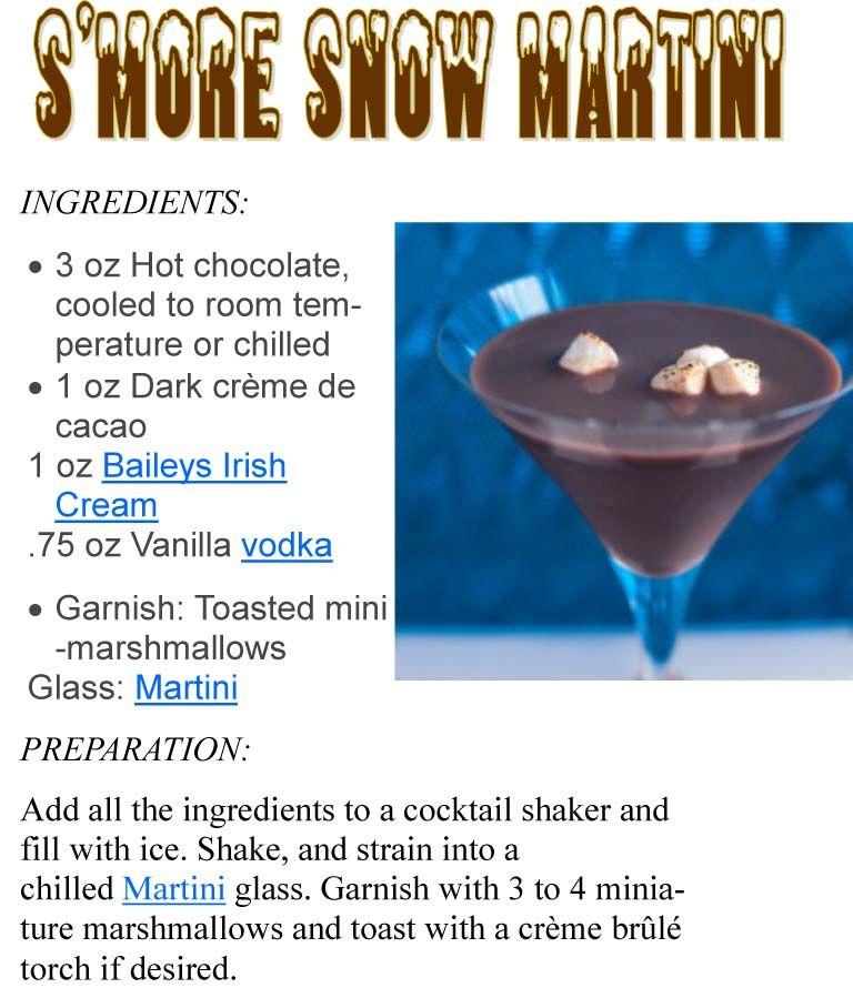 S'More Snow Martini