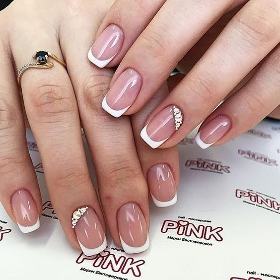 trendy gel nail art 2019 summer