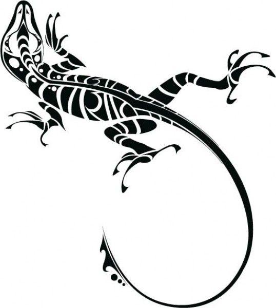 Ящерица-узор 3 | Silhouette | Pinterest | Tatuajes, Iguanas y Lagartijas
