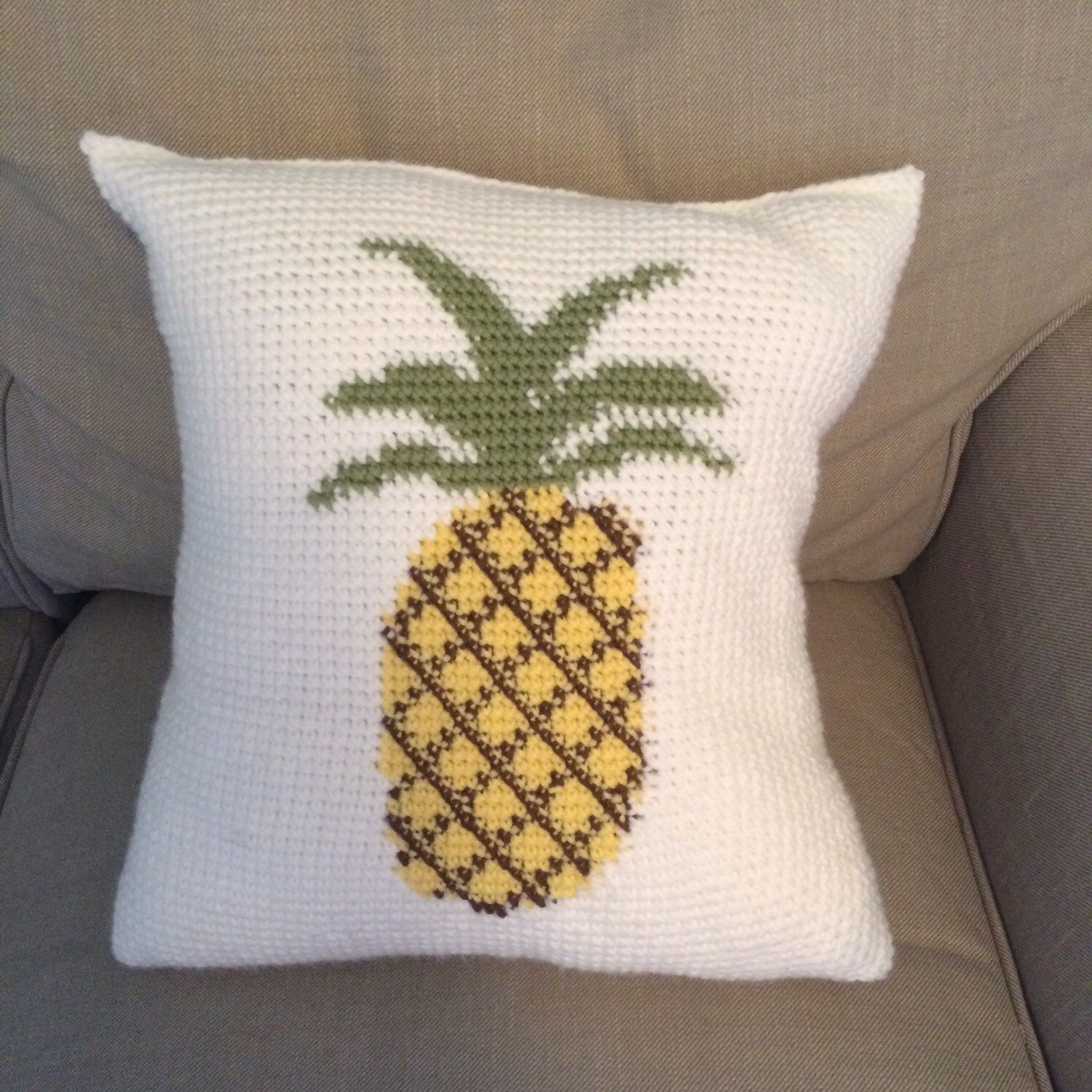 Pineapple Pillow by HannaCatchallCottage on Etsy https://www.etsy.com/listing/268616113/pineapple-pillow