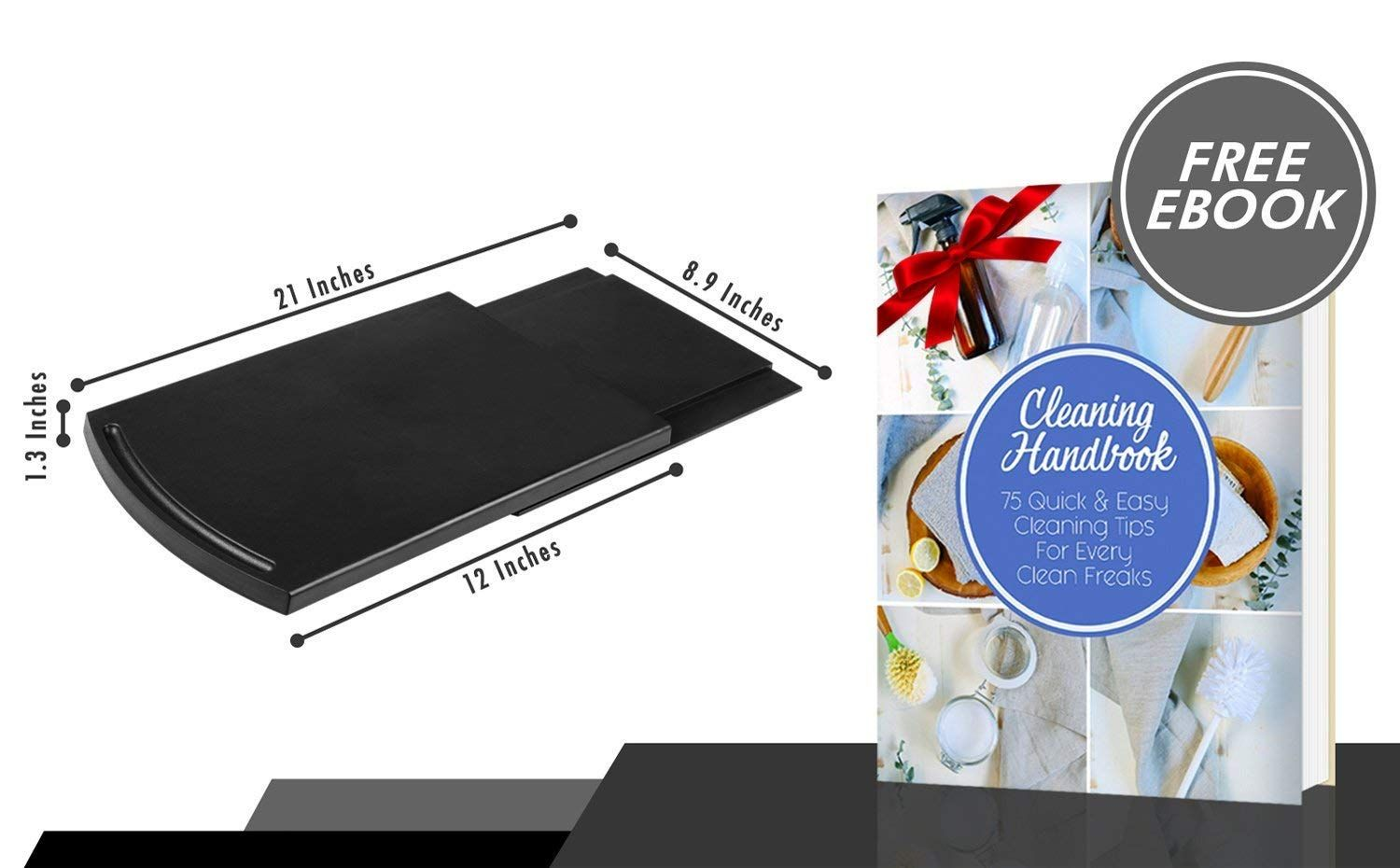 Multiuse Kitchen Caddy Sliding Coffee Tray Mat 12a Premium Abs 2 Pcs Base Smooth Slide Rolling Wheels Sta Countertop Storage Specialty Appliances Soda Makers